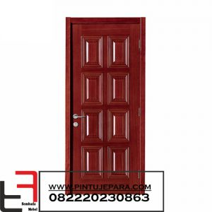 Pintu Single Kayu Jati Panel 8 Kotak PJ-173
