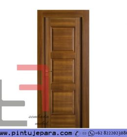 Pintu Kayu Jati Single 3 Panel Modern PJ-236