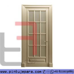 Pintu 1 Daun Full Panel Kaca Warna Cream Cat Duco PJ-310
