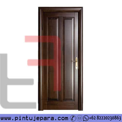 Pintu Jati 2 Panel Vertikal Melamine Brown PJ-291