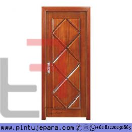 Pintu Single Jati Minimalis Modern Panel Berlian PJ-396