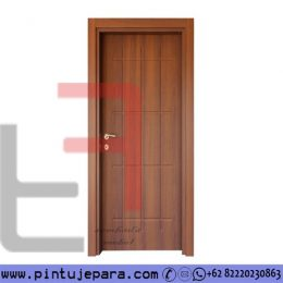 Pintu Kayu Jati Single Minimalis Blok Motif Crash PJ-562