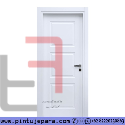 Pintu Warna Putih Kayu Solid Minimalis Daun SIngle PJ-556