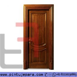 Pintu Kayu jati Single Klasik Modern Panel PJ-591