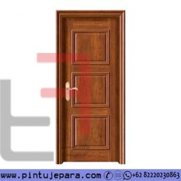 Pintu Kusen Kayu Jati Daun Single Klasik 3 Panel PJ-576