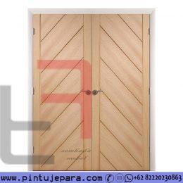 Kusen Pintu Utama Jati Minimalis Modern Kupu Tarung PJ-607