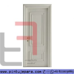 Pintu Modern Klasik Single Cat Duco 2 Panel Timbul PJ-644