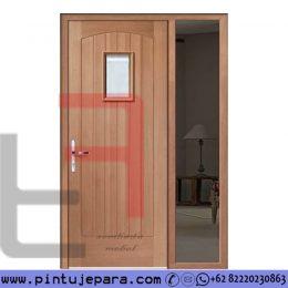 Pintu Rumah Minimalis Single Kayu Jati Jendela Tunggal PJ-686