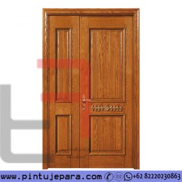 Pintu Kayu Jati Daun Double Besar Sebelah Klasik PJ-719